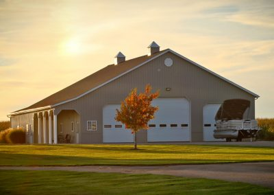 Recreational Vehicle storage barn with cupolas